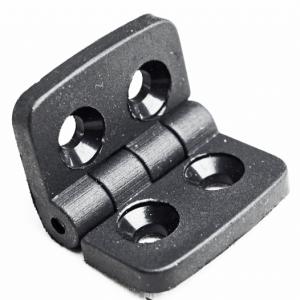 Hængsel - Sort termoplast til aluminiums profiler